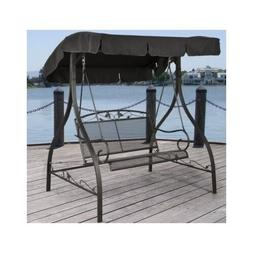 Porch Swing With Canopy Glider Modern Outdoor Furniture Fron