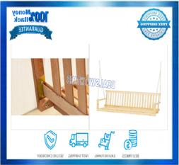Porch Swing With Chains Hardware 5 FT. Hardwood 3 People Sea
