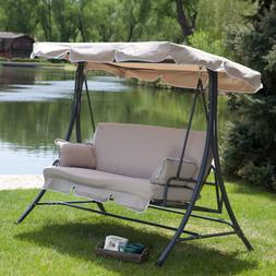 Porch Swings Outdoor Clearance Canopy With Stand Patio 3 Per