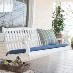 Porch Swings On Sale White 4 Foot Wood Cottage Farmhouse Pat