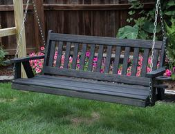 Amish Heavy Duty 800 Lb Mission 4 ft Porch Garden Swing With
