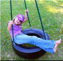 Ecommersify Swings REAL TIRE - Swing and Spin - Three chain
