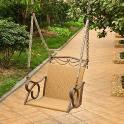 International Caravan Resin Wicker Valencia Single Porch Swi