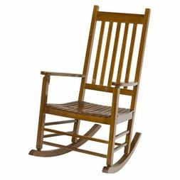 Rocking Chair Patio Porch Rocker Wooden Seat Seating Outdoor