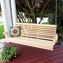 Porchgate Rollback Comfort Cypress Porch Swing With Cupholde
