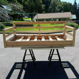 roughsawed cedar porch twin sized bed