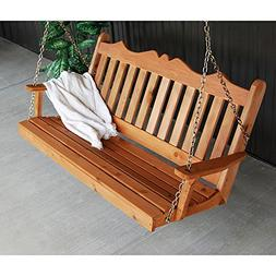 A&L Furniture Co. Royal English Red Cedar Porch Swing ...