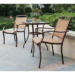 Mainstays Sand Dune 3-Piece Outdoor Bistro Set for Patio and