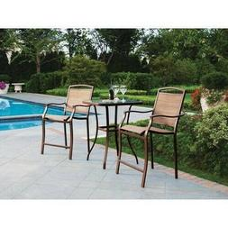 Mainstays Sand Dune 3Piece Outdoor Bar Height Bistro Set for