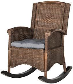 Safavieh SEA8034B Home Collection Rocking Chair, Verona Brow