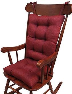 SET 2 Rocking Chair Cushion Rocker Pad Set Outdoor Jumbo Col