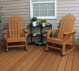 Rocking Chair Set 2 Wood Patio Furniture Deck Outdoor Porch