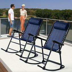 Rocking Chair Set Patio Folding Out Furniture Porch Cushion