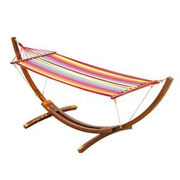 Outsunny 10.5' Solid Pine Wood Outdoor Single Person Curved