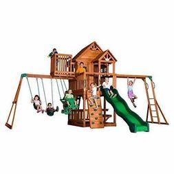 Backyard Discovery Skyfort II Wooden Cedar Swing Set