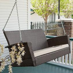 soho wicker porch swing