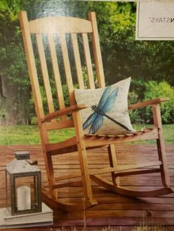 solid wood slat rocking chair rocker porch