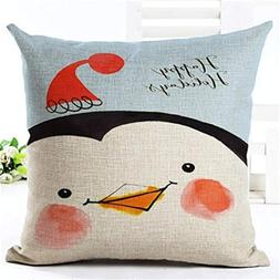 Vivian Inc Square Home Decorative Pillow Music Note Printed