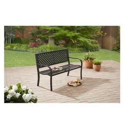 Mainstays Steel Bench Outdoor Patio Garden Porch Entry Bench