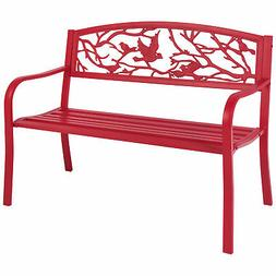 Best Choice Products Steel Patio Garden Park Bench Outdoor L