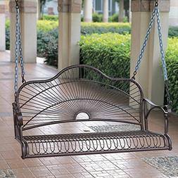 International Caravan Sun Ray Iron Porch Swing