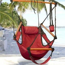Sunnydaze Home Decor Hanging Hammock Chair W/ Pillow & Drink