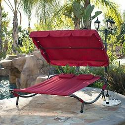 Belleze Swimming Pool Double Hammock Bed Sun Lounger Chaise