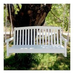 Swing 4 Foot Furniture Outdoor Porch Seat Wooden Hanging Cha