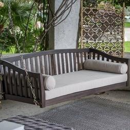 Swing Bed Porch Furniture Outdoor Seat Wooden Hanging Chair