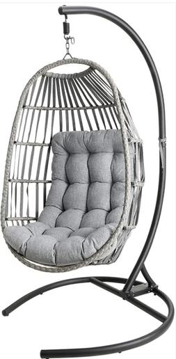 Swing Hanging Egg Wicker Chair Outdoor Garden Patio Hammock