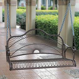 swing iron porch traditional metal steel water