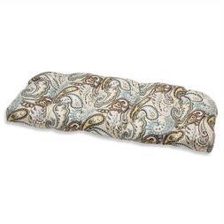 Outdoor Tamara Paisley Quartz Wicker Loveseat Cushion