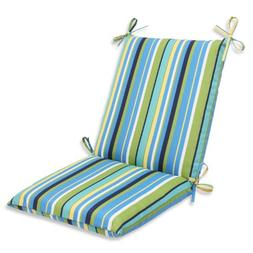 Outdoor Topanga Stripe Lagoon Squared Corners Chair Cushion