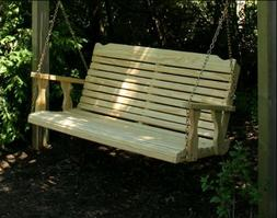 """64"""" Treated Pine Crossback Porch Swing"""