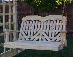 "53"" Treated Pine Heartback Porch Swing"