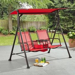 Two Seat Swing With Pivoting Table Porch Outdoor Furniture B