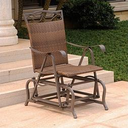 International Caravan Valencia Wicker Outdoor Glider Chair