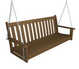 POLYWOOD; Vineyard Recycled Plastic 5 ft. Porch Swing