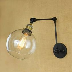 Vintage Industrial Swing Arm Adjustable Wall Light Sconce E2