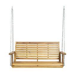 Viola Outdoor Aacia Wood Porch Swing
