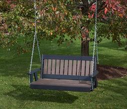 5FT-WEATHERED WOOD-POLY LUMBER Mission Porch Swing Heavy Dut