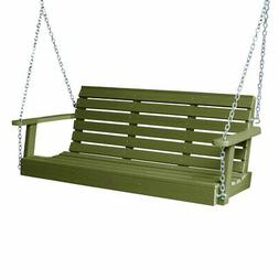 Highwood USA Weatherly 5 ft. Recycled Plastic Porch Swing