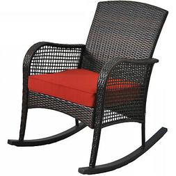 wicker outdoor rocking chair porch deck rocker