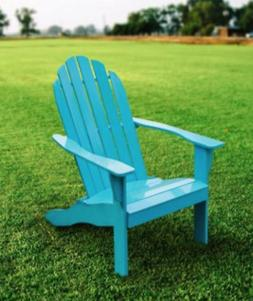 Wood Adirondack Chair Outdoor Patio Chaise Lounge Deck Recli