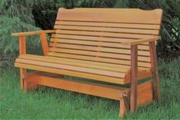 Wood Glider Bench Outdoor Patio Furniture Garden Deck Rocker