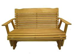 Wood Glider Bench Outdoor Patio Furniture Garden Deck Rocker