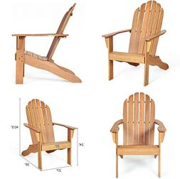 Wood Outdoor Adirondack Chair Natural Accent Furniture Finis