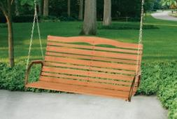 Wood Porch Swing Country Swings Hanging Seats Chair Outdoor