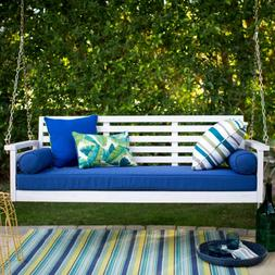 Wood Porch Swing, Patio Sofa Couch + Deck Bed Seat Cushion P