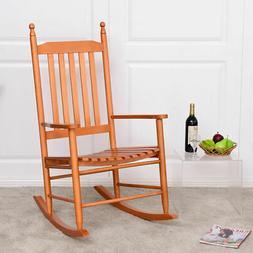 Wood Rocking Chair Porch Rocker Patio Deck Garden Backyard F